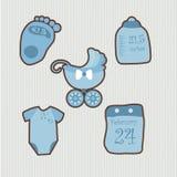 Um grupo de objetos para o bebê ilustração stock
