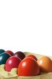 Um grupo de ovos de Easter na caixa do ovo Foto de Stock