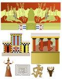 Um grupo de palácios minoan antigos ilustração stock
