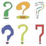 Um grupo de 6 perguntas Fotografia de Stock