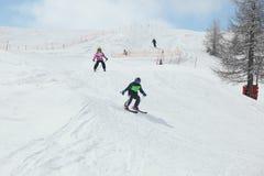 Grupo do esqui Imagens de Stock Royalty Free