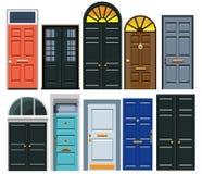 Um grupo de portas de entrada ilustração royalty free