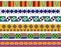 Um grupo de projetos africanos do teste padrão ilustração stock