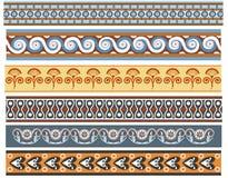 Um grupo de projetos minoan antigos do tamanco ilustração do vetor