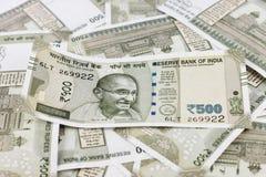 Um grupo de rupias indianas imagens de stock royalty free