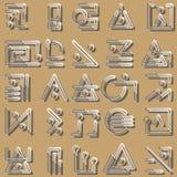 Um grupo de símbolos abstratos modernos dos elementos gráficos simples Fotografia de Stock