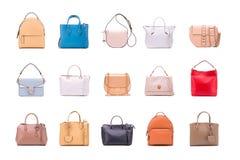 Um grupo de sacos das mulheres do verão fotografia de stock royalty free