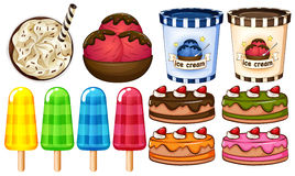 Um grupo de sobremesas Foto de Stock Royalty Free