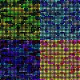 Um grupo de texturas para um teste padrão ou um fundo ilustração stock
