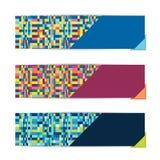 Um grupo de três bandeiras modernas Imagens de Stock Royalty Free