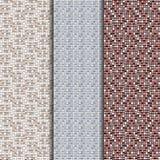 Um grupo de três texturas que imitam a alvenaria Foto de Stock