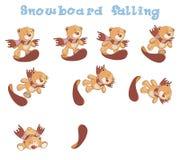 Um grupo de urso enchido brinca desenhos animados Fotos de Stock