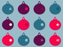 Um grupo do entalhe de uma quinquilharia do Natal Imagens de Stock Royalty Free