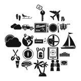 Um grupo dos ícones do sentido, estilo simples ilustração stock