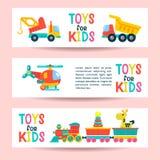Um grupo dos brinquedos das crianças Ilustração do vetor ilustração stock