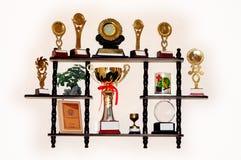 Um grupo dos troféus Imagens de Stock Royalty Free