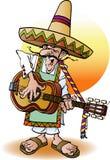 Um guitarrista mexicano Imagens de Stock