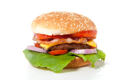 Um Hamburger fresco Foto de Stock Royalty Free
