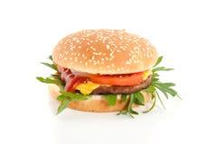 Um Hamburger fresco com queijo Imagem de Stock Royalty Free