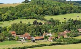 Um Hamlet rural inglês em Oxfordshire Fotos de Stock Royalty Free