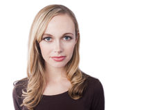 Um headshot de uma mulher nova Imagens de Stock Royalty Free