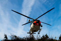 Um helicóptero imagens de stock royalty free