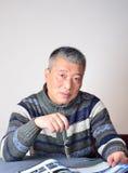 Um homem asiático Fotografia de Stock Royalty Free