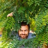 Um homem com uma barba Imagem de Stock