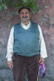 Um homem curdo em Kars em Turquia Foto de Stock