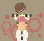 Um homem de negócios é inteligente, treinador brian ilustração do vetor