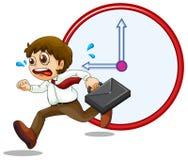 Um homem de negócios atrasado ilustração stock