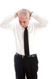 Um homem de negócios idoso que seja forçado Fotos de Stock
