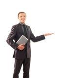 Um homem de negócios novo e esperto na roupa formal Imagem de Stock