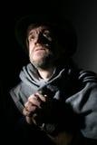 Um homem em um chapéu Foto de Stock