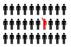 Um homem está levantando sua mão Imagens de Stock