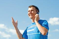 Um homem falador Imagem de Stock Royalty Free
