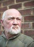 Um homem idoso scared Imagem de Stock Royalty Free