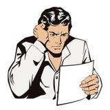 Um homem lê os originais Notícia, e fatos Foto de Stock