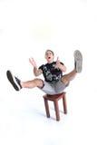 Homem de mnanipulação - demasiado em minha placa Fotos de Stock Royalty Free