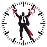 Equipe o limite em o tempo Imagens de Stock Royalty Free