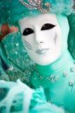 Um homem no traje no carnaval de Veneza Imagem de Stock