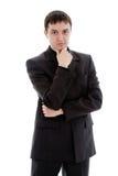 Um homem novo, chocando em um terno. Imagem de Stock Royalty Free