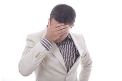 Um homem preocupado fotos de stock royalty free