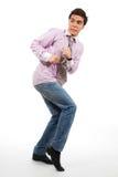 Um homem que anda pelo discrição Fotografia de Stock