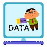 Supressão dos dados Imagem de Stock