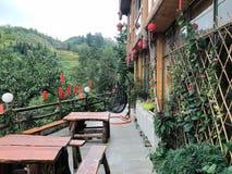 Um hotel no terraço em Guilin, Guangxi fotos de stock royalty free