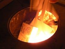 Um incêndio. Fotografia de Stock Royalty Free