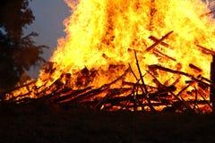 Um incêndio quente Fotografia de Stock Royalty Free