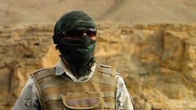 Um indivíduo do exército no dever filme