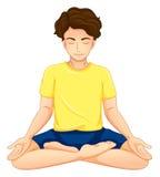 Um indivíduo que executa a ioga Fotos de Stock Royalty Free